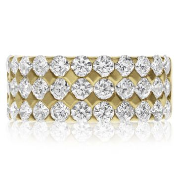 NEI Group 14k Gold ThreeRow Quilted Band