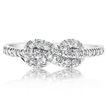 NEI Group 14k Gold Figure Eight Knot Ring