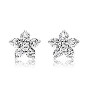 NEI Group 14k Gold Star Cluster Stud Earrings