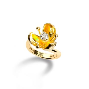 Galatea 14k Gold Illusia Ring