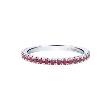 Gabriel & Co. 14k White Gold Ruby Stackable Ring