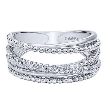 Gabriel & Co. Sterling Silver Sapphire Band