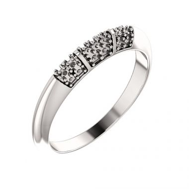 Stuller 14k White Gold 1/5ct Diamond Wedding Band