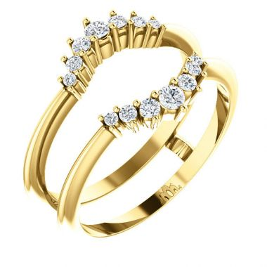 Stuller 14k Yellow Gold Diamond Ring Guard