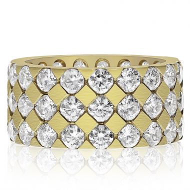 NEI Group 14k Gold Three Row Quilted Band