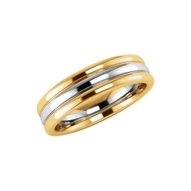 Stuller 14k Two-Tone Gold Men's Wedding Band