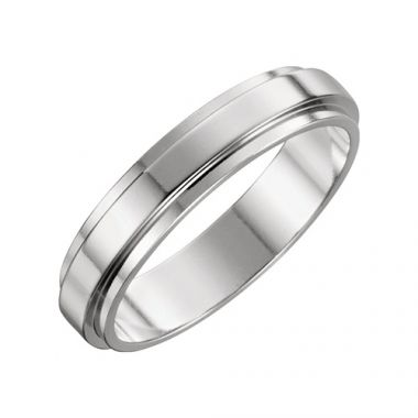 Stuller 14k White Gold Flat Edge Wedding Band