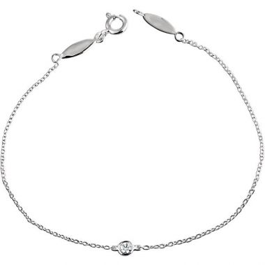 Stuller 14k White Gold Diamond Bracelet