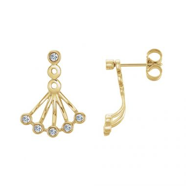 Stuller 14k Yellow Gold Diamond Earrings