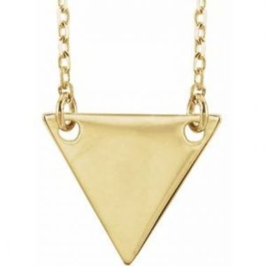"18K Yellow Gold Plated Geometric 18"" Necklace"