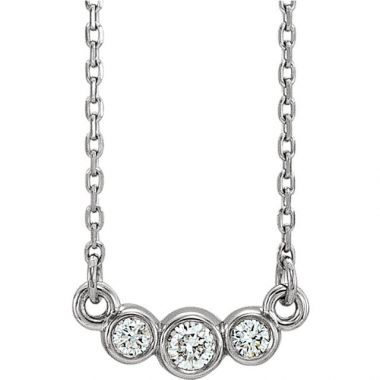 Stuller 14k White Gold Graduated Diamond Necklace