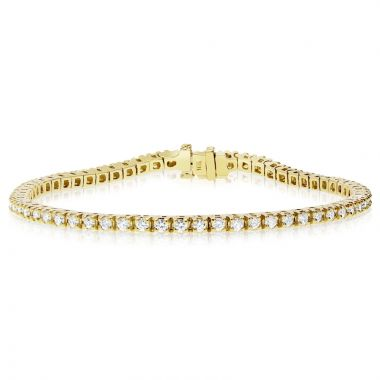 NEI Group 14k Gold 2.00 Carat Tennis Bracelet