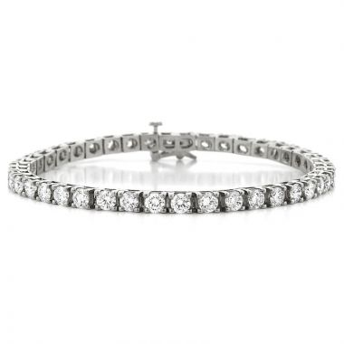 NEI Group Two Tone 14k Gold 8.00 Carat Tennis Bracelet
