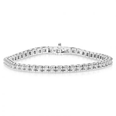 NEI Group 14k White Gold 3.5 Carat Tennis Bracelet