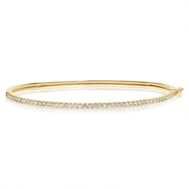 NEI Group 14k Gold 0.75 Carat Diamond Bangle