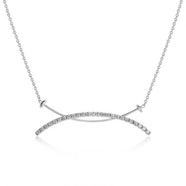 NEI Group 14k Gold Saturn Bar Necklace with Cable Chain