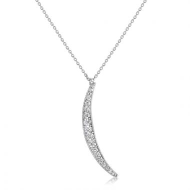 NEI Group 14k Gold Large Waxing Crescent Pendant with Cable Chain
