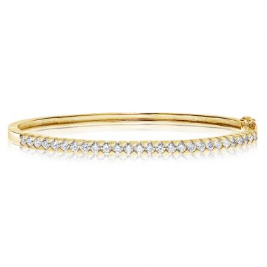 NEI Group 14k Gold  1.90 Quilted Bangle