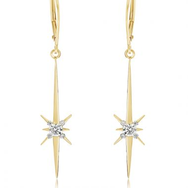NEI Group 14k Gold North Star Earrings