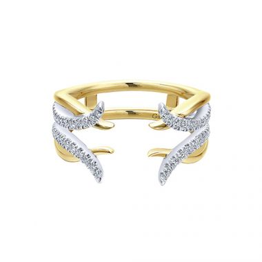 Gabriel & Co 14k Two Tone Gold Diamond Jacket Anniversary Band