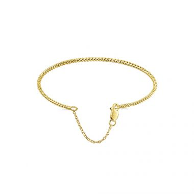 Gabriel & Co. 14k Yellow Gold Twisted Fashion Bangle Bracelet