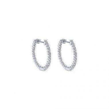 Gabriel & Co. 14k White Gold Hoop Earrings