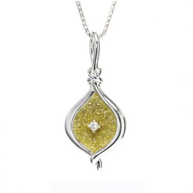 Galatea Sterling Silver 14k Gold Galaxia Silver Pendant