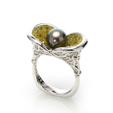 Galatea Sterling Silver Galaxia Silver Ring