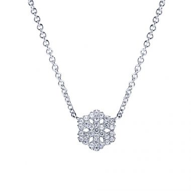 Gabriel & Co. 14k White Gold Snowflake Shaped Necklace