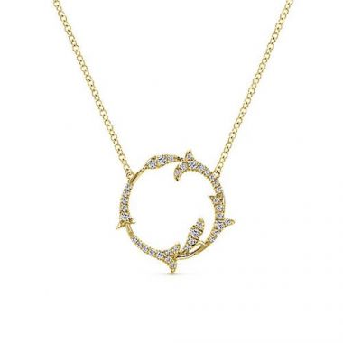 Gabriel & Co. 14k Yellow Gold Diamond Pendant