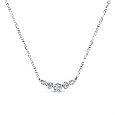Gabriel & Co. 14k White Gold Mini Bar Necklace