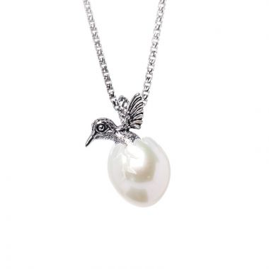 Galatea Sterling Silver Hummingbird Egg Pendant