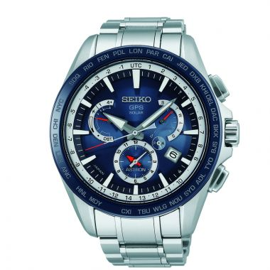 Grand Seiko Mens Astron GPS Solar Dual Time Stainless Steel case bracelet