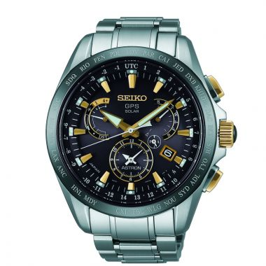 Grand Seiko Mens Astron GPS Solar Dual Time Titanium case and bracelet