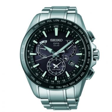 Grand Seiko Mens Astron GPS Solar Dual Time Stainless Steel case