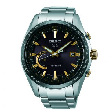 Grand Seiko Mens Astron GPS Solar World Time Titanium case and bracelet