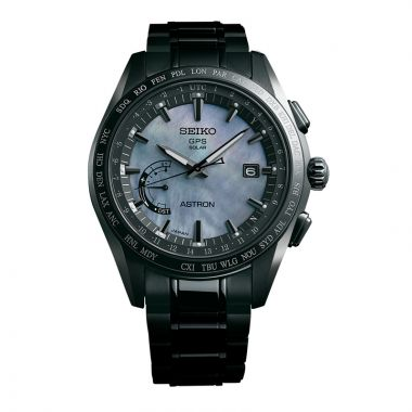 Grand Seiko Mens Astron GPS Solar World Time Titanium case