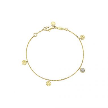 Gabriel & Co. 14k Yellow Gold Alternating 7