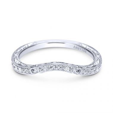 Gabriel & Co Platinum Diamond Wedding Band